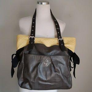 Vera wang 2 tone hobo bag
